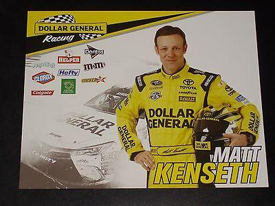 2016 Matt Kenseth  20 Dollar General Nascar Postcard