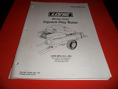 Drawer 12 Long 2042 Square Hay Baler Parts Manual