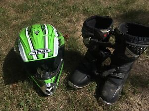 Youth helmet and boots