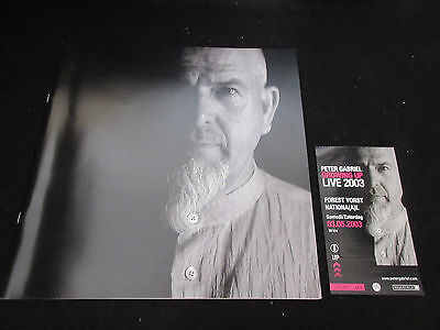 Peter Gabriel Growing Up 2003 World Tour Book Concert Program W Ticket Genesis