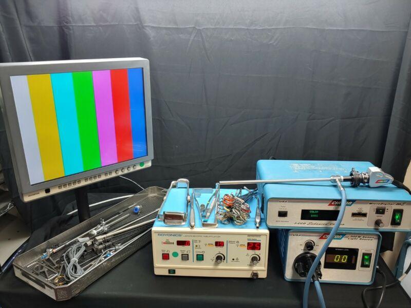 Circon ACMI Laproscopic System Complete Camera Controller Camera Monitor & MORE