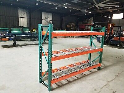 Used Teardrop Pallet Rack Shelving Racking Rails Scaffolding One Beam 102x2.5