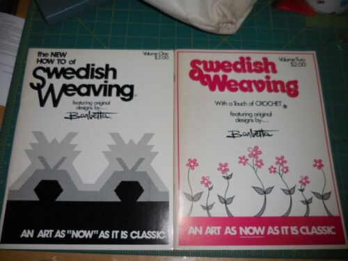 HOW TO OF SWEDISH WEAVING by Barbetta  iNSTRUCTIONS and Patterns Vol 1 and 2