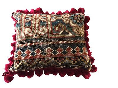 19th C Caucasian Fragment Lumbar Pillow 10