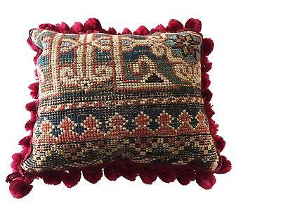 19th C Caucasian Fragment Lumbar Pillow 10