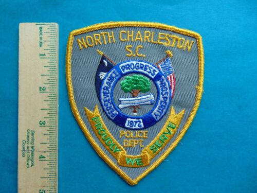 VINTAGE NORTH CHARLESTON S.C. SOUTH CAROLINA POLICE DEPT. PATCH