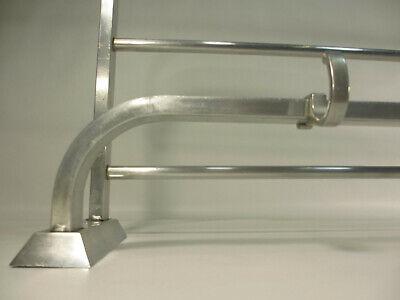 60er Jahre DB Aluminium Wandgardrobe Bauhaus Stil Kleiderhaken Garderobenhaken