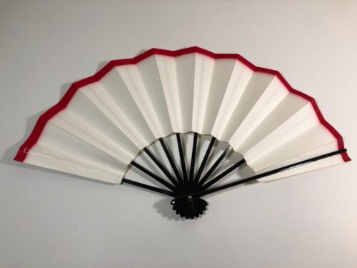 Japanese Odori Dance Hand Held SENSU Folding Fan White - Made in Japan