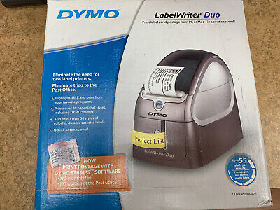 New Dymo Labelwriter Duo Thermal Label Printer W Power Usb Labels Software
