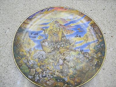 "Franklin Mint Decorative Plate ""Two By Two by Bill Bell"" Noah's Ark"