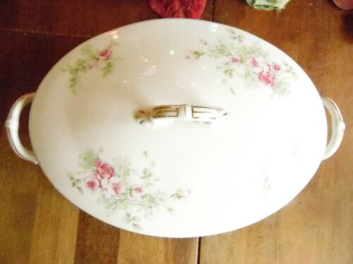 VINTAGE LS S CARLSBAD FINE CHINA PINK ROSES SMALL CASSEROLE LID SERVING AUSTRIA