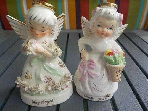 VINTAGE NAPCO MAY ANGEL FIGURINE AND JAPAN MAY ANGEL FIGURINE