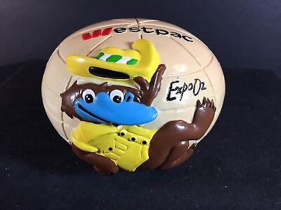 Westpac Expo 88 Oz Platypus   Piggy Bank   1988 Money Box
