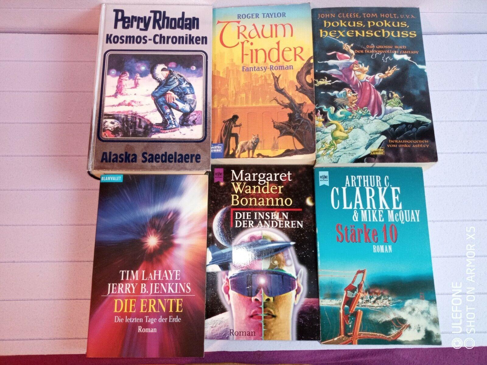 6 Utopische Romane Science Fiction  verschiedene Schriftstellern Arthur C Clarke