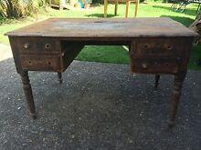 Antique Oak Desk Woolooware Sutherland Area Preview