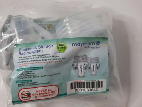Maymom Breast Milk Storage Bag Adapters Fits Most Wide Neck Spectra Avent 2PK