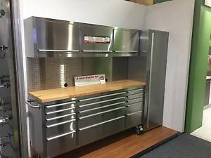 2.4M Workbench Tool Chest Pegboard Cabinet Tool Trolley System Huntleys Point Hunters Hill Area Preview