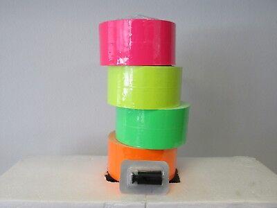 Monarch 1131 price gun Pink Green Orange Yellow Fluorescent 2 Rolls Each w Ink