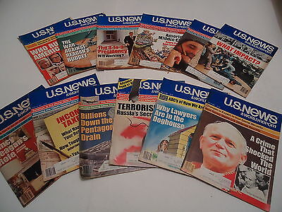 Us News   World Report 12 Issues 1981 Reagan   Pope Assassination Attempts