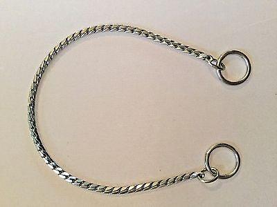 Chrome Snake Chain Show Choke Collar Dog X Fine Weight 6 Lengths NEW Hexagon - Fine Dog Choke Chain Collar