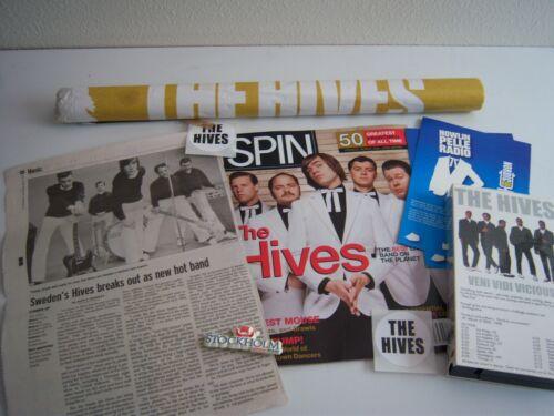 Hives Pelle Almqvist memorabilia, swedish music, early 2000s postcard, poster