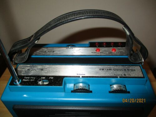Sears Solid State Portable 8 Track Player