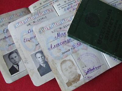 Offizier Wehrpass Soldbuch Militärpass UdSSR Rote Armee СССР военный билет Army