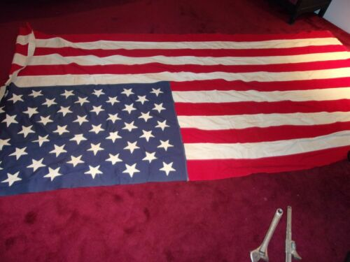 Vintage 1959 Valley Forge 49 Star USA 100%Cotton American Flag
