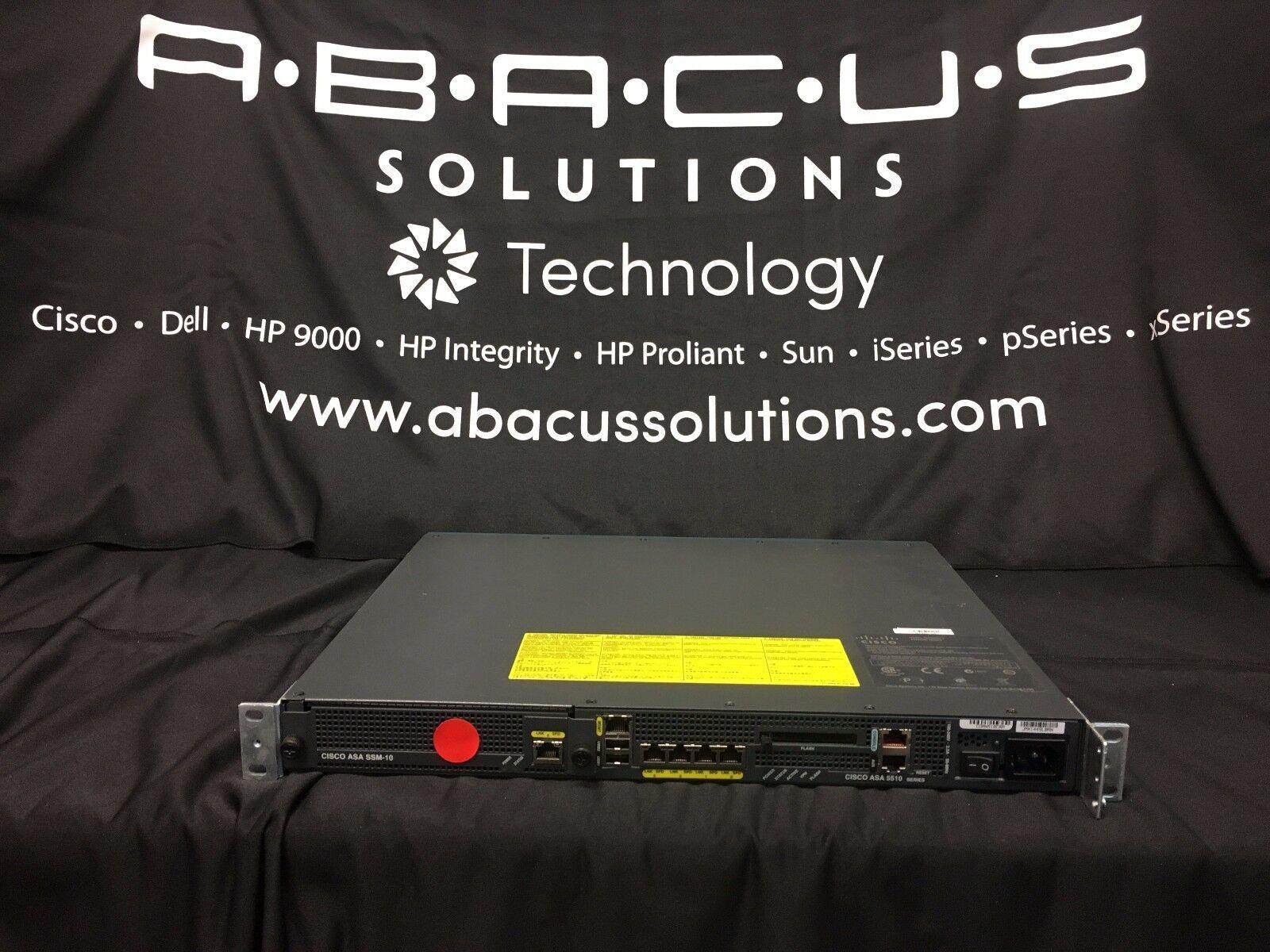 Cisco ASA5510-AIP10-K9 Appliance w// AIP-SSM-10 **orange status light no output**