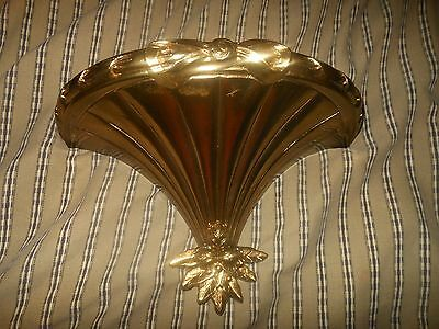 HOMCO WALL SHELF BURWOOD HOME INTERIOR GIFTS GOLD BOW FLOWERS 3120 VINTAGE