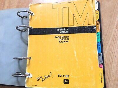 John Deere Jd450-c Crawler Bulldozer Loader Technical Service Manual Tm1102