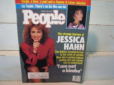 People Magazine JESSICA HAHN cover Oct 5 1987 plus LIZ TAYLOR,  PRINCESS FERGIE Taylor Hahn