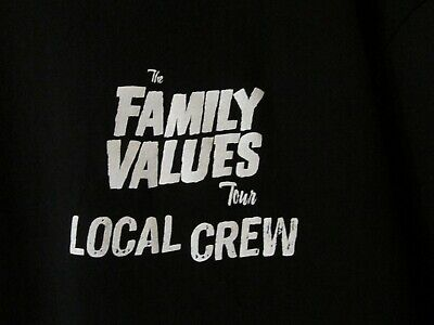 LOCAL CREW XL T SHIRT FROM THE FAMILY VALUES TOUR BX#4