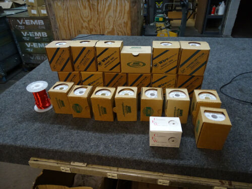 22 Boxes/ Spools Wirenetics MWS Magnet Wire Lot