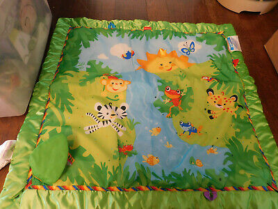 Baby Rainforest Melodies & Lights Deluxe Gym REPLACEMENT Quilted MAT Satin trim, used for sale  Shipping to Nigeria