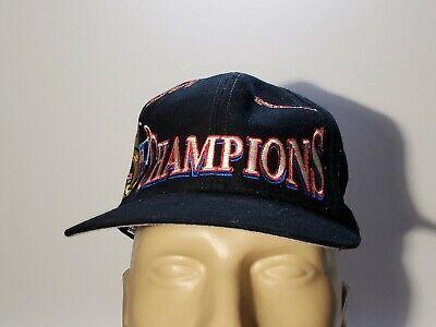 Vintage Chicago Bulls 1997 97 NBA Champions Snapback Hat Logo Athletic