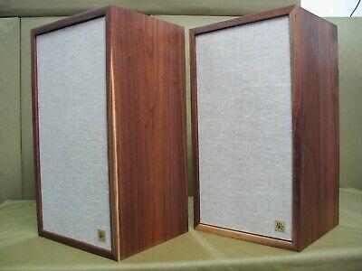 AR 2ax Vintage Audiophile Speakers ( Hand Made Solid Black Walnut Cabinets )
