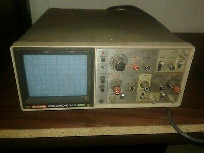 Hitachi V-212 20 Mhz Oscilloscope Vintage