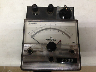 Vintage Westinghouse Amp Meter 1-5-10  Pa-141 W Hard Case