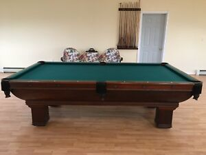 Antique Pool Table Brunswick Balke model Saratoga