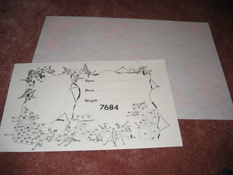 * TRI CHEM 7684 NEW BORN BABY PHOTOMAT Liquid Embroidery Picture TRICHEM