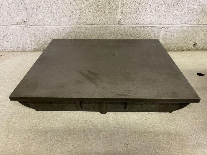 "Vintage Machinist Cast Iron Surface Inspection Plate 18"" X 15"""