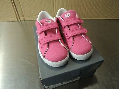 New Balance Kid's Hook and Loop ProCourt Girls Shoes 8-1/2 Pink - NEW