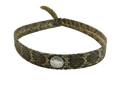 - 1 inch Real Rattlesnake Hat Band (598-HB102) 10UBW