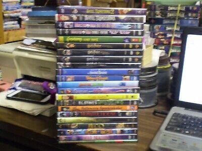 (23) Halloween Spooky Children's DVD Lot: (2) Hotel Transylvania Goosebumps MORE (Halloween Adam Sandler)