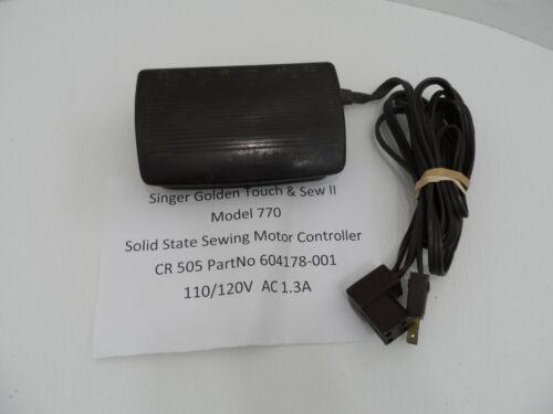 SINGER GOLDEN TOUCH & SEW II MODEL 770 FOOT PEDAL CONTROLLER CR505