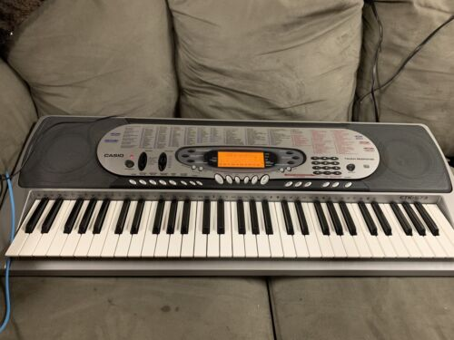Casio Electric Keyboard Model CTK-573 61 Note Touch Plus Ac Adaptor Used - $139.99