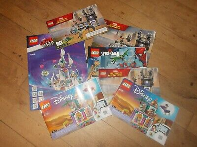 Lego Instruction Manuals Only Mixed Lot 76103 76114 41161 70838 70607 70652