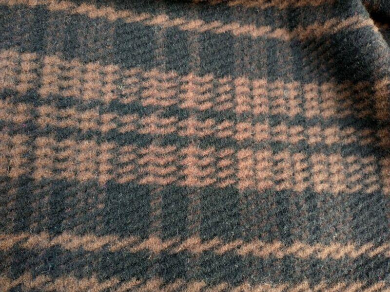 """Vintage 1950s Wool Plaid Fabric 2yds + 15"""" x 54""""WYD"""