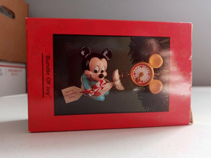 Enesco Treasury of Christmas Ornaments - Mickey Mouse - Bundle Of Joy - Disney